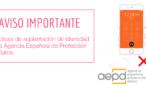 Aviso importante: prácticas de suplantación de identidad de la Agencia Española de Protección de Datos